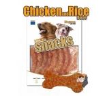 Magnum Kurča a ryža kosť mäkká, prírodná mäsová pochúťka pre psov 250 g