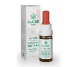 Dr. CBD 5% CBD Bio Konopný olej - Fénixovho kvapky znižuje únavu, stres, svalové napätie, prispieva k energetickej rovnováhe organizmu 10 ml
