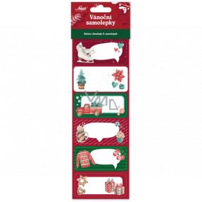 Nekupto Vianočné samolepiace menovky na darčeky Korčule 6 kusov