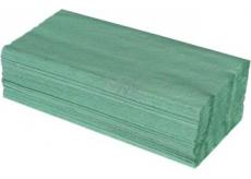 Katrin ZZ Papierové uteráky skladané jednovrstvové zelené, 250 kusov