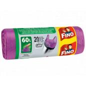 Fino Color Sáčky do odpadkového koša s ušami fialový 60 litrov, 59 x 72 cm, 13 mikrometrov, 20 kusov