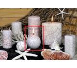 Lima Nevada svíčka bílá koule 80 mm 1 kus
