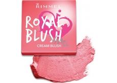 Rimmel London Royal Blush Cream Blush tvářenka 002 Majestic Pink 3,5 g