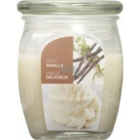 Bolsius Aromatic Tasty Vanilla - Vanilka vonná sviečka v skle 92 x 120 mm 830 g, doba horenia 100 hodín