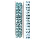 Dekorační řetěz světle modrý, 1 x 75 cm