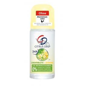 CD Citrus a Lipový guľôčkový antiperspirant dezodorant roll-on pre ženy 50 ml