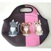 Albi Original Termo Svačinová taška Mačka uchová potraviny dlhšie teplej / studenej 30 x 27 x 18 cm