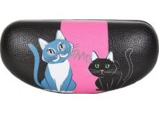 Albi Original Puzdro na okuliare Mačka, imitácia kože, 15,5 x 7,5 x 5,5 cm