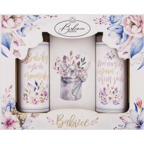 Bohemia Gifts Babičce sprchový gél pre ženy 100 ml + šampón na vlasy 100 ml + soľ do kúpeľa 110 g, kozmetická sada