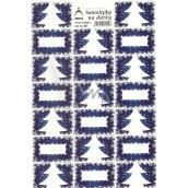 Arch Stromeček modrý vánoční samolepky na dárky 20 etiket 1 arch 821