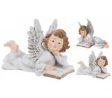 Anděl keramický křídla glitr mix 21 x 14 1 kus
