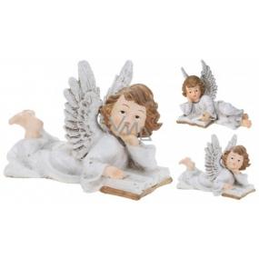 Anjel keramický krídla glitr mix 21 x 14 1 kus