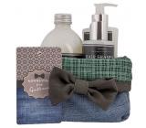 Bohemia Gifts & Cosmetics Gentleman sprchový gél pre mužov 250 ml + šampón na vlasy 250 ml + pena do kúpeľa 500 ml + látkový košík, kozmetická sada