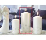 Lima Starlight sviečka biela / strieborná valec 70 x 150 mm 1 kus