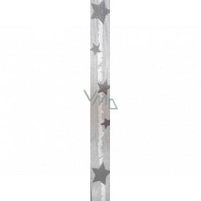 Ditipo Stuha látková s drôtikom šedá s šedými hviezdičkami 3 mx 25 mm