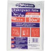 Spokar Standard Zakrývacia fólia 4 x 12,5 m HDPE - 7my