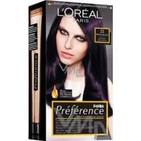Loreal Paris Préférence Feria farba na vlasy 22 Mystic black čierno - fialová