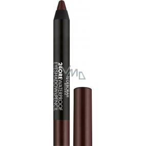 Deborah Milano 24Ore Waterproof Eyeshadow & Pencil oční stíny a tužka na oči 2v1 05 Mat Chocolate 2 g