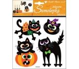 Samolepky Halloween mačky 23 x 18 cm