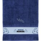 Albi Ručník Sportovní maniak modrý 90 x 50 cm