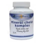 Uniospharma Minerál chelát komplex obsahuje minerály vápník, hořčík a zinek ve formě chelátů udržuje stav kostí a zubů 90 tablet