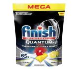 Finish Quantum Ultimate Lemon tablety do umývačky, chráni riadu a poháre, prináša oslnivú čistotu, lesk 65 kusov