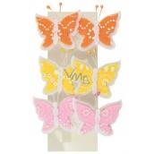 Motýlci z filcu na klipu 4,5 cm 6 kusů v sáčku