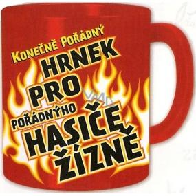 Nekupto Darčeky s humorom Hrnček maxi Konečne poriadny hrnček pre hasičov smädu 0,8 l