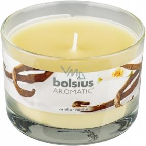 Bolsius Aromatic Vanilla - Vanilka vonná sviečka v skle 90 x 65 mm 247 g doba horenia cca 30 hodín