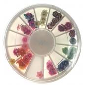 Nail Accessory Ozdoby na nechty kytičky farebné BH 118