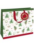 Nekupto Darčeková papierová taška luxusné veľká 33 x 33 cm Vianočný WLIL 1789
