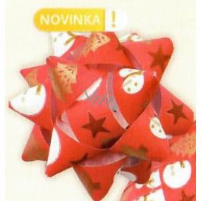 Nekupto Hviezdica strednej luxus červená snehuliak, hviezdy, stromčeky 6,5 cm HV 217 30