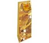 Nekupto Darčeková papierová taška na fľašu 33 x 10 x 9 cm Vianočný zlatý pohár