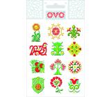 Ovo Obtisky Glitr Ornamenty různé motivy 12 motivů 1 aršík