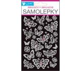 Room Decor Samolepky motýle s kamienkami 19 x 10 cm