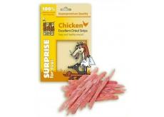 Huhubamboo Excellent Sušené kuřecí proužky přírodní masová pochoutka pro psy 75 g