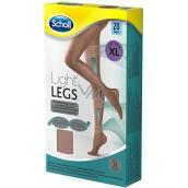 Scholl Light Legs Kompresný pančuchové nohavice XL hnedé 20 deň pomáhajú zabraňovať pocitu únavy nôh a znižujú pocit ťažkých nôh