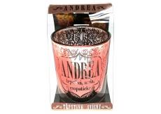 Albi Trblietavý svietnik zo skla na čajovú sviečku ANDREA, 7 cm