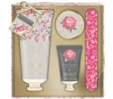 Baylis & Harding Ružová magnólie a Kvety hrušky mlieko na ruky 75 ml + peeling na ruky 30 ml + kryštáliky pre vodné kúpeľ rúk 20 ml + pilník na nechty, kozmetická sada starostlivosti o ruky