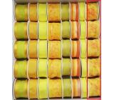 Ditipo Stuha látková s drôtikom žltá s motýlikom 2 mx 40 mm 1 kus