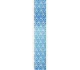 Nekupto Darčekový baliaci papier 70 x 150 cm Modrý 970 40