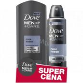 Dove Men + Care Cool Fresh sprchový gel 250 ml + antiperspirant sprej pre mužov 150 ml, duopack