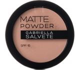 Gabriella salva Matte Powder SPF15 púder 03 Soft Beige 8 g