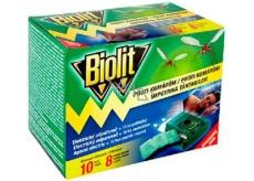 Biolit Elektrický odpařovač proti komárům s polštářky 10 nocí + náhradní náplň 10 kusů