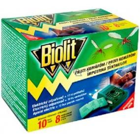 Biolit elektrický odparovač proti komárom s vankúšikmi 10 nocí + náhradná náplň 10 kusov