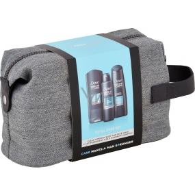 Dove Men + Care Clean Comfort sprchový gel 250 ml + antiperspirant sprej 150 ml + šampón 250 ml, kozmetická sada