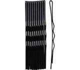 Duko Vlasové spony čierna 6 cm 10 kusov 526B