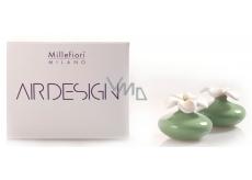 Millefiori Air Design Difuzér květina nádobka pro vzlínání vůně pomocí porézní vrchní části mini zelená 2 kusy, 80 ml, 7 x 6 cm