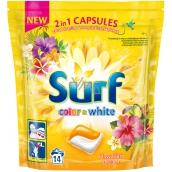 Surf Color & White Hawaiian Dream kapsle na praní barevného i bílého prádla 14 dávek 337 g