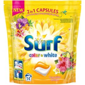 Surf Color & White Hawaiian Dream kapsule na pranie farebného i bielej bielizne 14 dávok 337 g